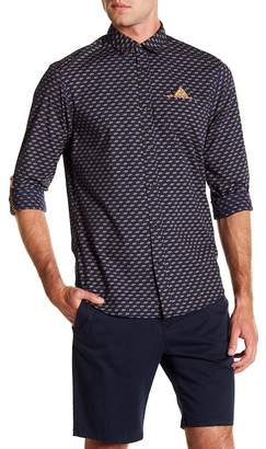 Scotch & Soda Relaxed Fit Long Sleeve Patterned Shirt