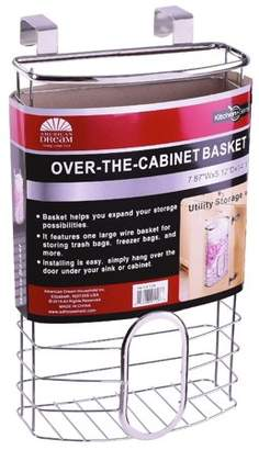 American Dream Home Goods The Kitchen Sense Over the Cabinet Grocery Bag Holder and organizer