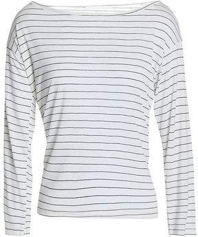 Kain Label Striped Modal And Silk-Blend Jersey Top