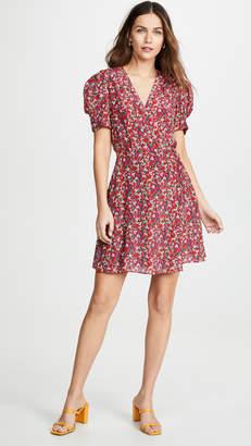 Saloni Lea Wrap Mini Dress