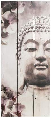 Graham & Brown Buddha Wall Art On Fir Wood - 30 X 70cms