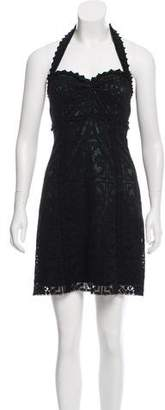 Dolce & Gabbana Crochet Lace Halter Dress