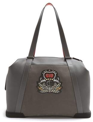 Christian Louboutin - Bagdamon Leather Holdall - Mens - Grey
