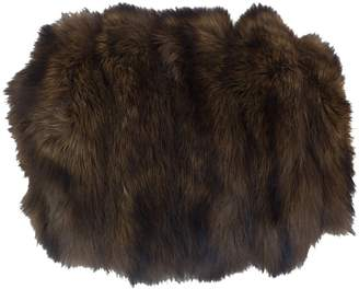 Fisher Brown Faux fur Gloves