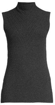 Elie Tahari Natalia Sleeveless Merino Wool Turtleneck Sweater