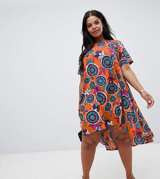 AX Paris Plus Retro Print Swing Dress