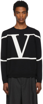 Valentino Black VLogo Sweater