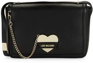 Love Moschino Heart Logo Charm Crossbody Bag