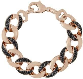 Bronzo Italia Large Black Spinel Curb Link Bracelet
