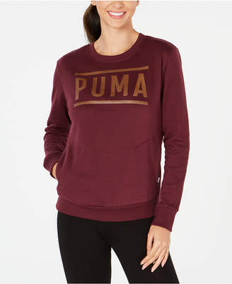 Puma Metallic-Logo Sweatshirt