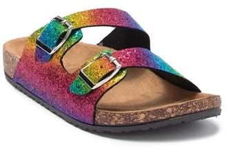 OLIVIA MILLER Rainbow Glitter Slide Sandal (Toddler, Little Kid, & Big Kid)