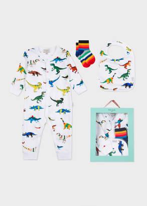 Paul Smith Baby Boys' White 'Dinosaur' Print Playwear Set