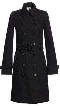 Burberry Sandringham Long Heritage Cotton Trench Coat