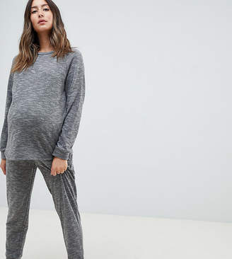 Asos DESIGN Lounge Maternity sweat and jogger set