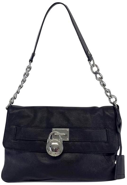 Michael Kors Black Pebbled Leather Shoulder Bag - BLACK - STYLE