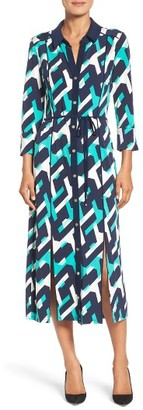 Women's Laundry By Shelli Segal Print Midi Shirtdress $138 thestylecure.com