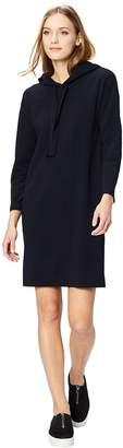 Daily Ritual Women's Plus-Size Cotton Modal Terry Hooded Sweatshirt Dress Dress
