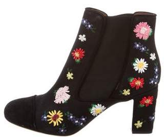 Tabitha Simmons Embroidered Ankle Boots