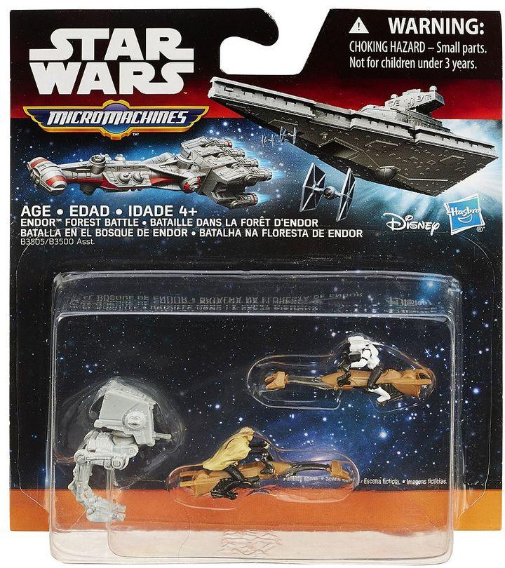 Hasbro Star Wars: Episode VI Return of the Jedi Micro Machines 3-pk. Endor Forest Battle Set by Hasbro