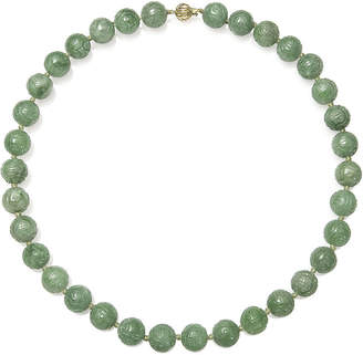 FINE JEWELRY Green Jade 14K Yellow Gold Necklace