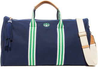 Tory Burch Preppy Canvas Weekender $350 thestylecure.com