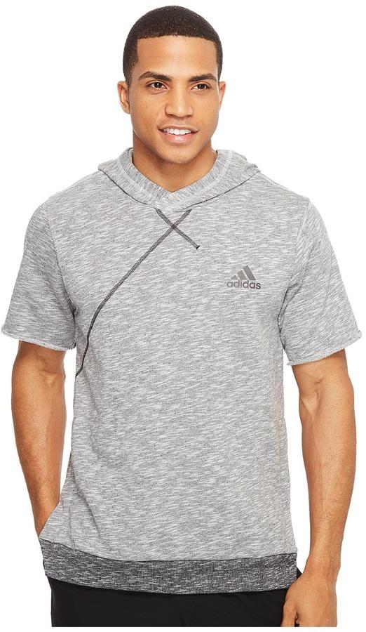 adidas - Cross Up Short Sleeve Hoodie Men's Sweatshirt