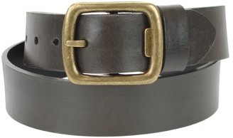 Montauk Leather Club 1-1/2 in. US Steer Hide Men's Leather Belt with Detachable Antique Brass Finish Bottle Opener Buckle