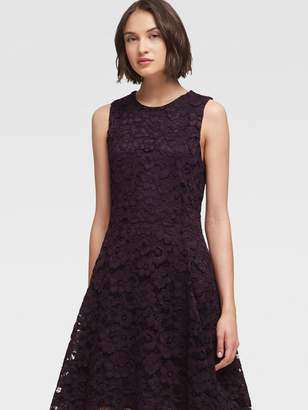 DKNY Lace Fit-And-Flare Dress