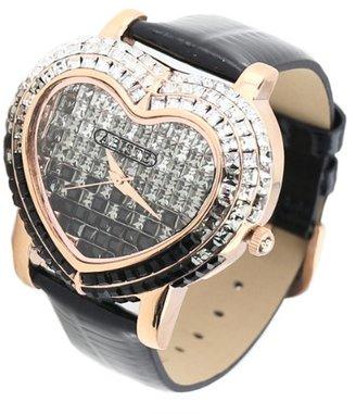 Abiste (アビステ) - [アビステ]ABISTE ハートフェイスキラキラ時計/ブラック 9300009P/BK