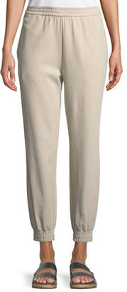 Joan Vass Stretch Interlock Jogger Pants, Petite
