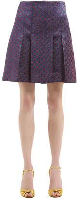 Gucci Gg Lurex Pleated Skirt