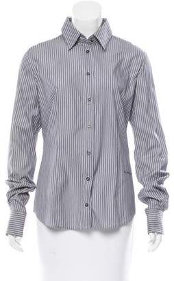 Richmond X Pinstripe Button-Up Top w/ Tags