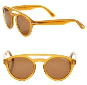 Tom Ford Clint 50MM Round Sunglasses
