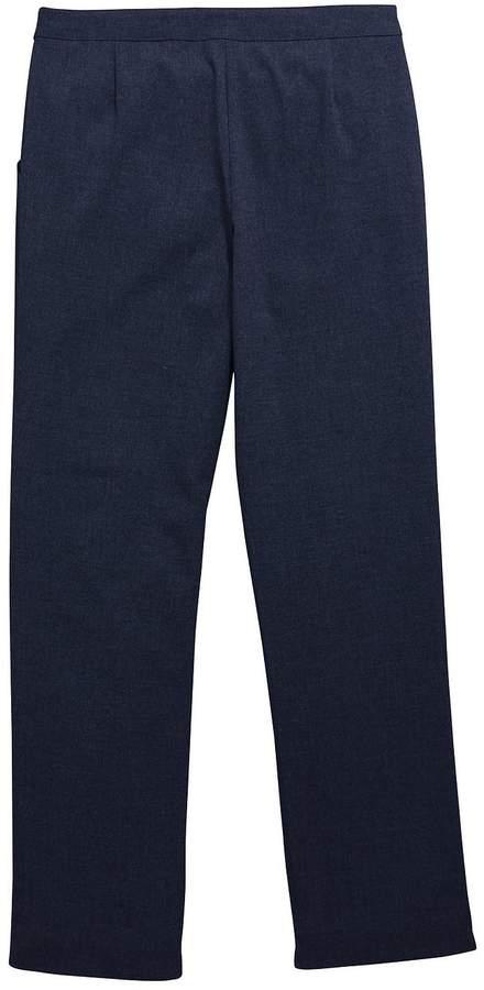 Very Schoolwear Girls Woven Regular Fit School Trousers - Navy (2 Pack)