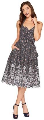 Unique Vintage Billie Halter Swing Dress Women's Dress