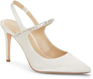 Imagine by Vince Camuto Crystal Embellished Quarter Strap Pump