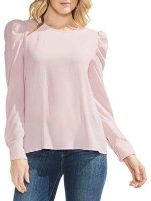 Vince Camuto Puff-Shoulder Long-Sleeve Blouse