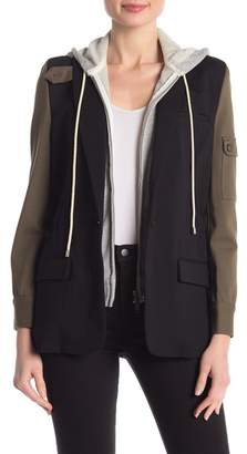 Central Park West Colorblock Dickie Blazer Jacket