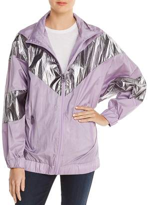 AVEC LES FILLES Metallic Color-Block Windbreaker - 100% Exclusive