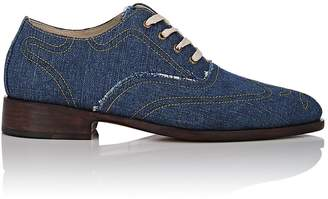 Esquivel WOMEN'S JENNA WASHED DENIM WINGTIP OXFORDS