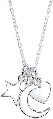 Footnotes Sterling Silver Moon, Star & Heart Charm Necklace