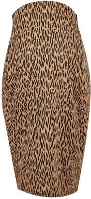 Dorothy Perkins Womens **Maternity Multi Colour Leopard Print Jacquard Midi Pencil Skirt
