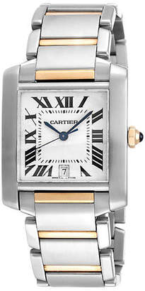 One Kings Lane Vintage Cartier Tank Francaise Two Tone Watch - Precious & Rare Pieces