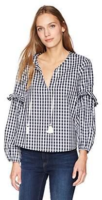 Splendid Women's Multi Blouson Sleeve Blouse