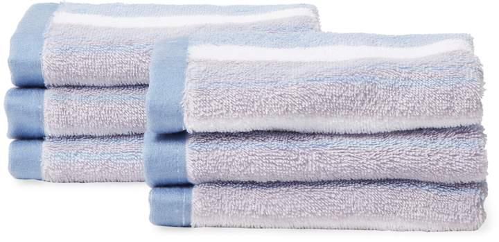 Chortex of England Loft Living Stripe Washcloth Set (Set of 6)
