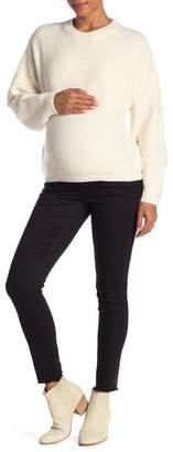 Seven7 Frayed Hem Skinny Jeans (Maternity)
