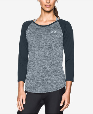 Under Armour UA Tech Heathered Colorblocked Top $29.99 thestylecure.com