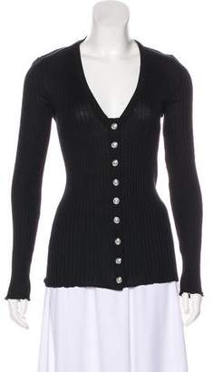 Balmain Rib Knit Long Sleeve Sweater w/ Tags