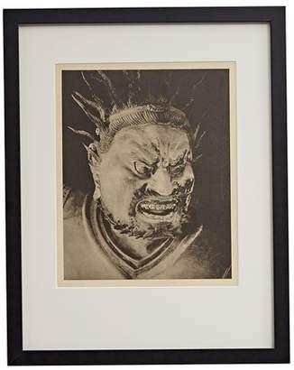 Rejuvenation Framed Photogravure of Chinese Shinto Warrior