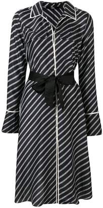 Karl Lagerfeld logo stripe dress